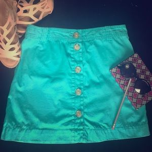 Bright blue J. CREW mini skirt!